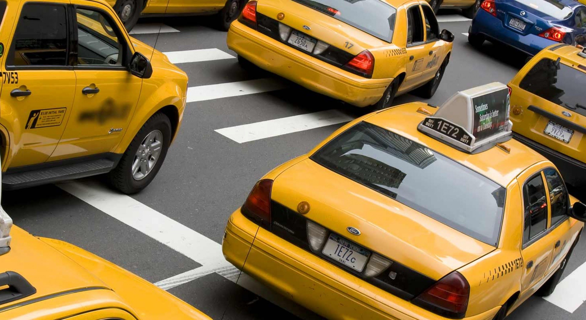 Taxicabs in Traffic